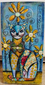 Pretty kitty  My Art Journal: A New Step-by-Step Tutorial for 2015