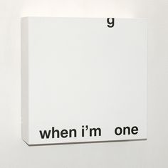 "visual-poetry:  ""one"" by anatol knotek"