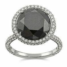 18k White Gold Rose Cut Black Diamond Ring from Borsheims