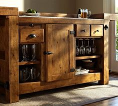 Rustic Ultimate Bar   Pottery Barn (Wood You Mind?