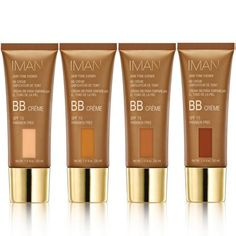 IMAN Cosmetics - BB Creme SPF 15 Skin care and color combined to even, protect, tone and compliment YOUR Skin tones, like no other BB Cream ever has! Brown Skin, Dark Skin, Creme, Bb Cream Reviews, Iman Cosmetics, Beauty Balm, Best Natural Skin Care, Natural Beauty, Vitis Vinifera