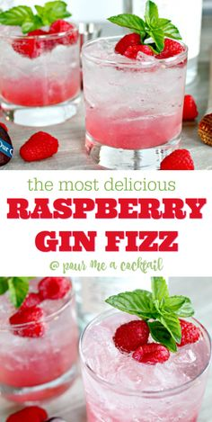 Raspberry Gin Fizz Cocktail … new with us: Gin www.shop Raspberry Gin Fizz Cocktail … new with us: Gin www. Gin Fizz Cocktail, Best Gin Cocktails, Gin Cocktail Recipes, Easy Cocktails, Summer Cocktails, Fun Drinks, Raspberry Cocktail, Cocktail Drinks, Simple Gin Drinks