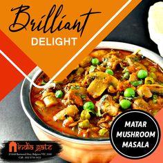 India Gate, Fine Dining, A Table, Stuffed Mushrooms, Beef, Restaurant, Indian, Food, Stuff Mushrooms