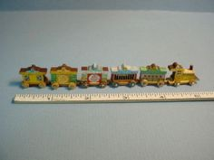 Six Car Circus Train Set Painted F Dollhouse Miniature | eBay