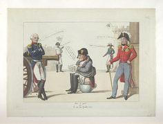 1815.Bodleian Libraries,Bon à part ou- le jeu des quatre coins.French political cartoon.