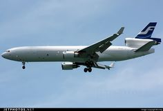Finnair Cargo McDonnell Douglas MD-11(F) freighter OH-LGC 48512 Singapore Changi Int'l Airport - WSSS
