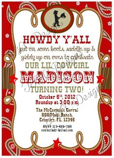 Cowgirl Birthday Party Invitations is best invitations layout