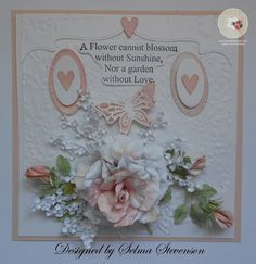 16 best cards flowers dies and punches images on pinterest in susans garden rose with babys breath tutorial selmas stamping corner mightylinksfo