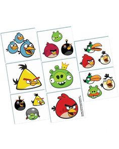 Add some Angry Birds action to your party with these temporary tattos. This package 16 Count Angry Birds Tattoo Favors includes 16 items. King Pig,Helmet Pigs,Mustache Pigs and Small Pig. Bird Birthday Parties, Birthday Favors, 16th Birthday, Party Favors, Birthday Ideas, Tattoos For Kids, Fake Tattoos, Temporary Tattoos, Bird Tattoos
