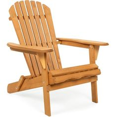 Best Choice Products Folding Wood Adirondack Chair Accent Furniture For Yard, Patio, Garden W/ Natural Finish - Brown : Target Wood Adirondack Chairs, Patio Chairs, Outdoor Chairs, Patio Seating, Danny Collins, Garden Furniture, Outdoor Furniture, Pallet Furniture, Furniture Ideas