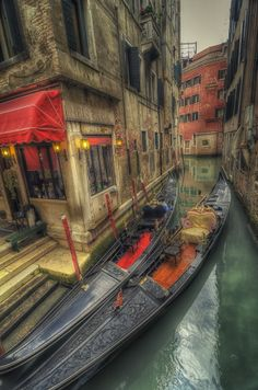 Gondolas in Venice #photography #hdr #photo