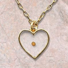Mustard Seed Heart, Gold-plated Pendant on SonGear.com - Christian Shirts, Jewelry