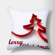 Stybuzz Merry Christmas Tree Paper Art Cushion Cover  #XmasWithFabFurnish #gift #Christmas