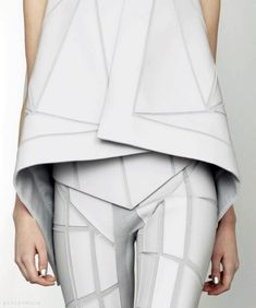 Geometric Minimalism - strong lines & sharp shapes; futuristic fashion details // Gareth Pugh