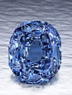 This undated file photo provided by the Smithsonian Institution shows the 31.06-carat Wittelsbach-Graff Diamond. The fancy, deep grayish blue diamond, discovered in India in the 17th century and purch