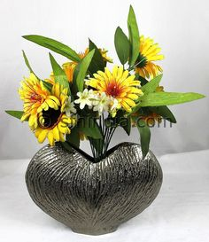Heart shape Aluminium Vase.