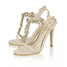 Buy Ravel ladies New Mexico heeled sandals online in nude