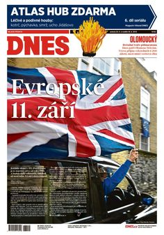 Czech daily newspaper comparing #brexit to 9/11