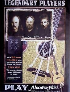 vintage musician ads | ... -Stills-amp-Nash-ALVAREZ-YAIRI-GUITARS-David-Crosby-vintage-music-ad