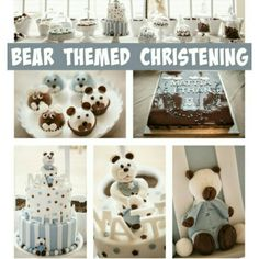 Featured on prettymyparty see the gallery http://www.prettymyparty.com/bear-themed-christening/