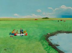 "William Kurelek's ""sequel"" to ""The Maze"" - ""Out of the Maze."" Can you see the maze reference?"