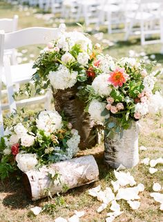 Rustic Birch Wedding Flowers | photography by http://beauxartsphotographie.com/