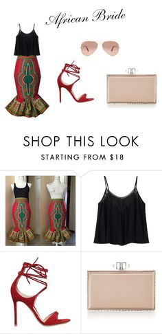 """""""African Bride"""" by rmensah on Polyvore featuring Gianvito Rossi, Judith Leiber and Ray-Ban"""