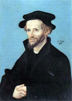 Portrait of Philipp Melanchthon, 1543, Lucas Cranach the Elder