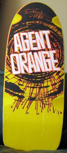 rare Vision Agent Orange skateboard