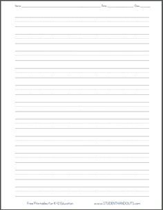 paper with lines