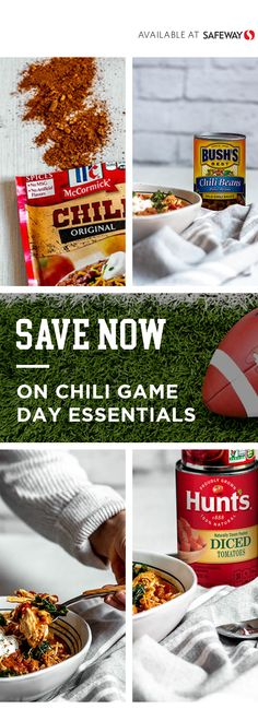 Save big on mccormick bush conagra albertsons coupons at Albertsons. Chili Seasoning Mix, No Bean Chili, Feeding A Crowd, Game Day Food, Tomato Paste, Big Game, Chili Recipes, The Dish, Finger Foods