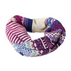 Joules Scarves - Joules Fair Isle Snood - Soft Navy Marl