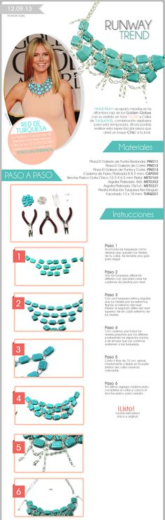 Turquoise necklace... need to translate instructions but pretty good pictures to follow.