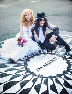 rock and roll wedding. central park.