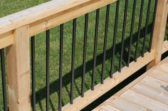 Nice finishing touch for an otherwise simple pressure treated rail.