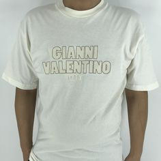 Excited to share this item from my #etsy shop: Gianni Valentino Italy Tshirt Large 90's Valentino Designer White Valentino Tee Spell Out Streetwear Tee Size L #shortsleeve #womenvalentino #whitevalentino #embroideryvalentino #designertshirt #vintagevalentino #valentinotshirt #mensvalentino #giannivalentino