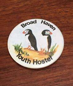 Vintage Broad Haven Youth Hostel Puffins Badge - West Wales Welsh in Collectables, Badges/Patches, Advertising Badges | eBay!