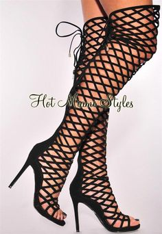 Hot Miami Styles carries sexy bandage dresses, tops, swimwear and more with a fun Miami vibe! Affordable clothes, fashions and styles. Thigh High Boots Heels, Shoes Heels Wedges, Platform High Heels, Black High Heels, Heeled Boots, Shoes Sandals, Sexy Boots, Sexy Heels, Stiletto Heels