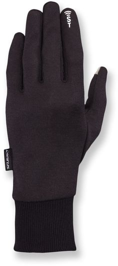 Seirus SoundTouch Deluxe Thermax Liner Gloves - Liner glove with leather glove shell.