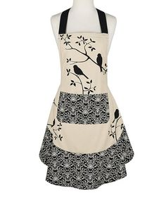 This Black Bird Ruffle Apron is perfect! #zulilyfinds