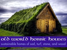 The first modern green roof structures were developed in the 1960s, but Scandinavian people have been living this way for millennia. In a frigid environment with few trees, sod was the natural choice for building, leaving a legacy of adorable hobbit-esque homes across Norway, Iceland, and other Nordic lands... Read more: Hobbit-Style Turf Homes: Sustainable Houses that Lasts for Centuries hobbit house icelandic flag – Inhabitat - Sustainable Design Innovation, Eco Architecture, Green…