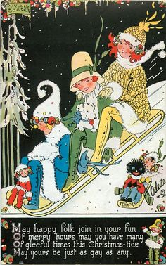 Vintage Christmas card by Phyllis Cooper
