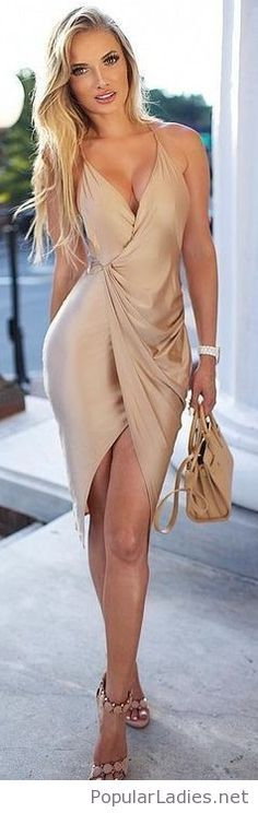 Amazing all nude look with dress