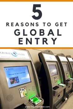 Travel Tip:  Save time and hassle!  Here's 5 Reasons To Get Global Entry Before Your Next Trip.