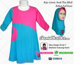Grosir Baju Muslim Anak Perempuan Harga Murah Bahan Kaos
