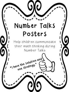 Number Talks Posters: Hand Signals and Communication