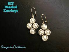 Bead Adorned Earrings.Beaded Earrings.Pearl Earrings - YouTube