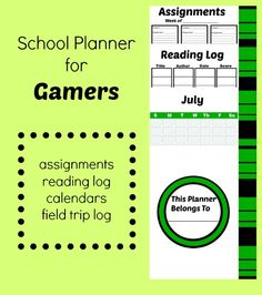 The Transplanted Southerner: Gaming - The Last Thing You Thought Would HELP Your Child Learn! PLUS a FREE school year planner for your gamer kiddo!