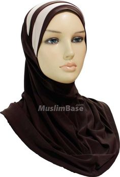 One Piece Hijab - Stripes - Dark Brown and Beige http://www.muslimbase.com/clothing/hijabs/one-piece-hijab/piece-hijab-stripes-dark-brown-beige-p-8761.html
