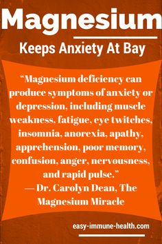 Sufficient levels of magnesium can keep anxiety at bay. Signs of magnesium deficiency are all around you: http://www.easy-immune-health.com/signs-of-magnesium-deficiency.html